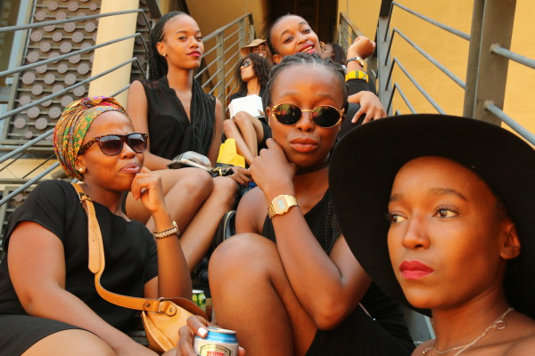 50 SHADES OF BLACK: Women of all shapes and ages congregated at Constitution Hill to celebrate black female pride. Photo: Michelle Gumede