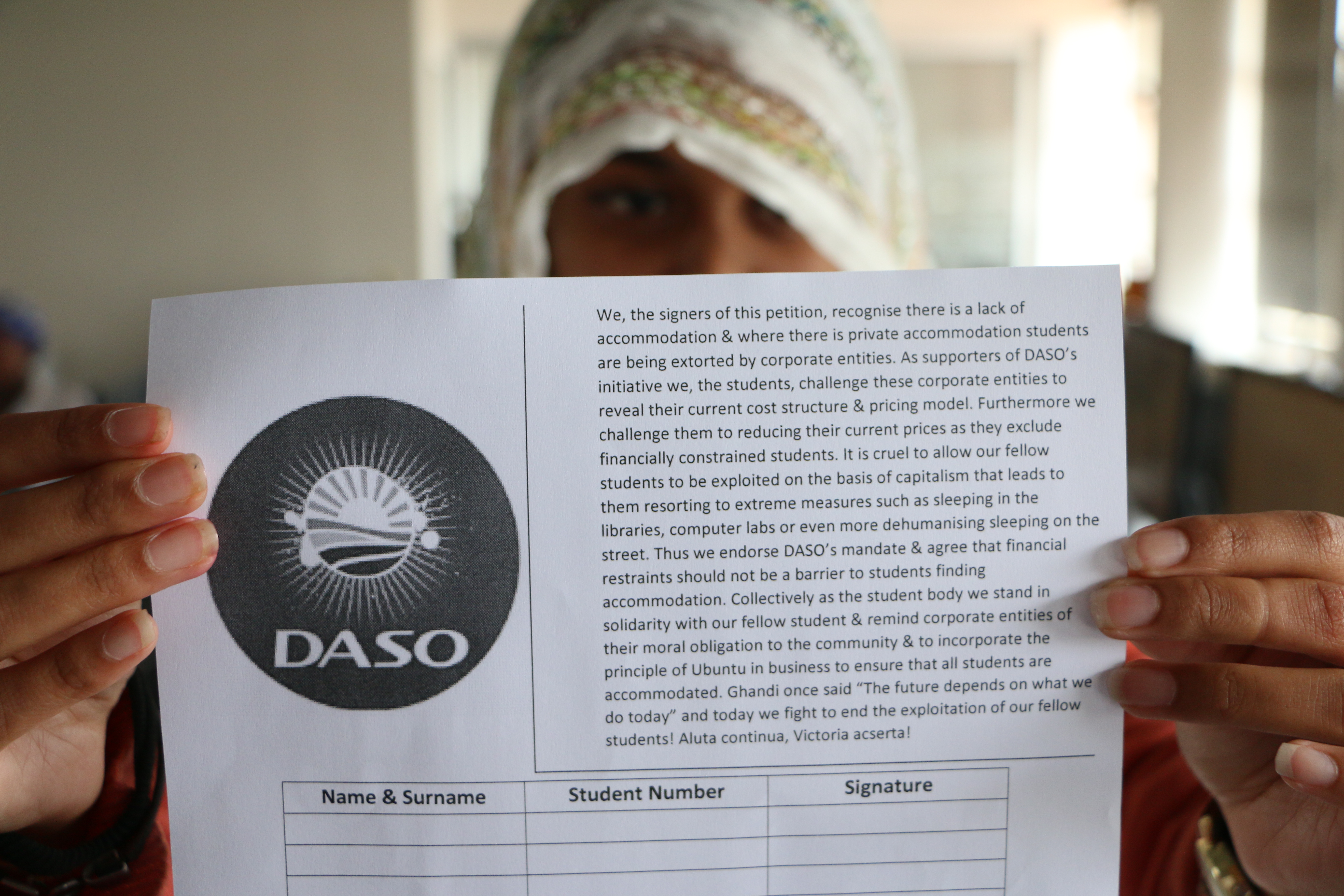 DASO campaigns for student accommodation