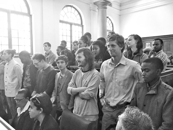 SET FREE: The protesters gathered in the Cape Town Magistrate's Court on Wednesday.
