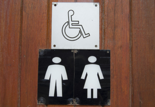 ACCESS FOR ALL: An example of a sign that will be used for the gender neutral bathrooms. Photo: Candice Wagener