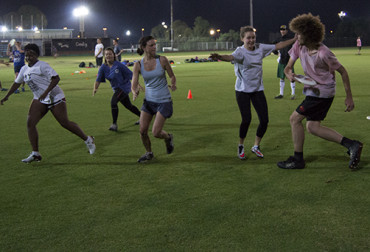 TAKE IT FARTHER: Some members of the Voodoo Kudos during a practice match in preparation for the upcoming nationals. Photo: Candice Wagener