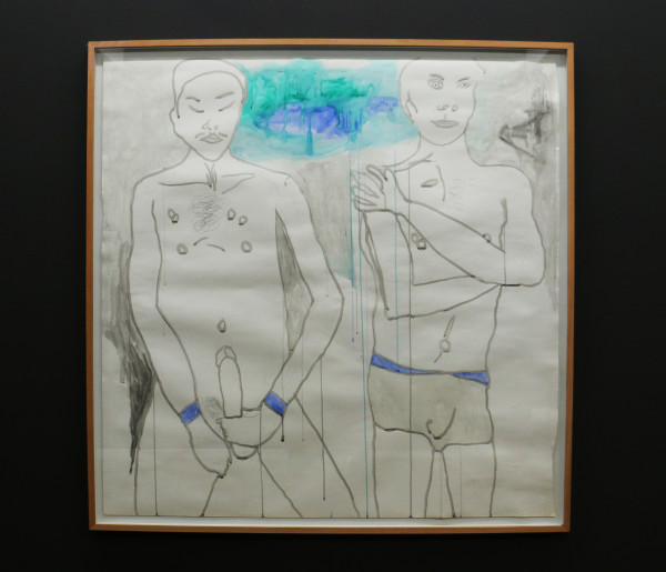 Self-Pleasure: Moshekwa Langa's Untitled piece depicts the intimacy of male masturbation. Photo: Hazel Kimani