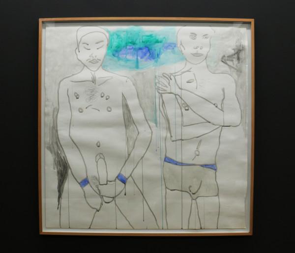 Self-Pleasure: Moshekwa Langa's Untitled piece depicts the intimacy of male masturbation. Photo: Hazel Kimani