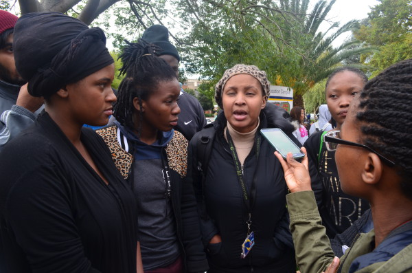 HEAR US: Students at Wits education campus request their own student representation and campus control Photo: Nozipho Mpanza