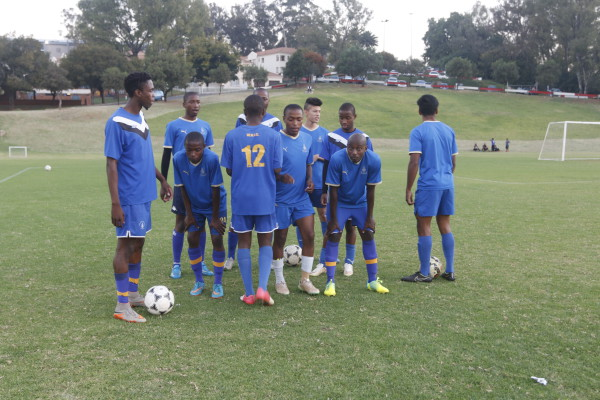SQUAD GOALS: Wits FC boys preparing for their practise session.