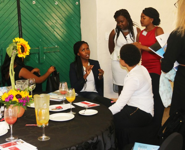 MEET YOUR POTENTIAL EMPLOYER: Students of the Golden Key Chapter, network with their potential employer this morning.