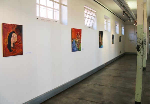 COMMEMORATING FREEDOM: A variety of artwork by different women from the Muslim community.