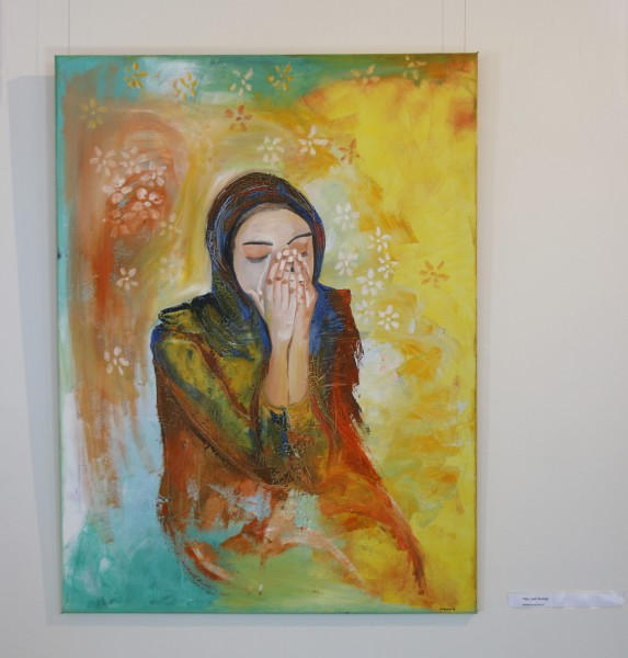 Unveiling the Hijabi: A painting by Nadia Cassim, on display on Freedom day.