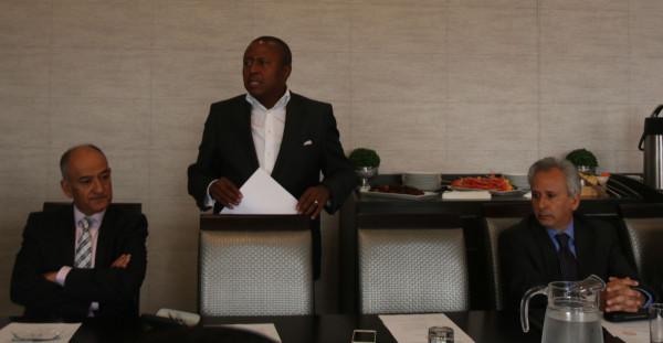 Let's talk access: Spokesperson, Tiego Moseneke addresses media and alumni on SASSFE Photo: Olwethu Boso