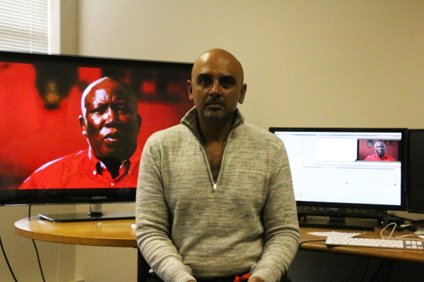 THE REVOLUTION WILL BE TELEVISED: Emmy Award-winning filmmaker Rehad Desai put final touches to his upcoming documentary 'Julius Malema vs the ANC' Photo: Lwandile Fikeni
