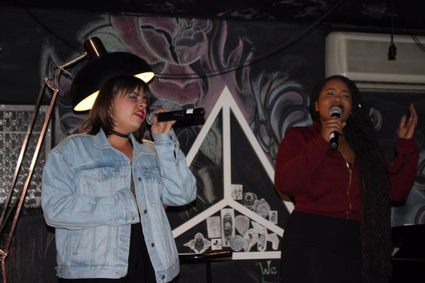CREATING BEATS: Poetic Beat founders Erryn Gracey and Kagiso Magabe performing at Saturday's event. PHOTO: Jade Hunt