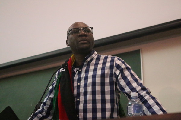 Pastor Evan Mawarire at a #ThisFlag public lecture, University of Witwatersrand. Photo: Nasya Smith