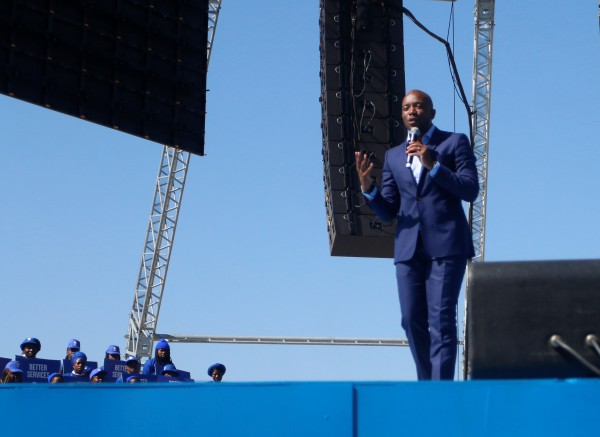 6.A half an hour long speech delivered by DA leader, Mmusi Maimane. Photo Nokuthula Zwane