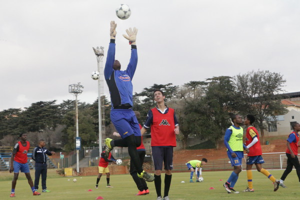 Wits FC goalkeeper during the team's training . Photo by: Ayanda Mgede