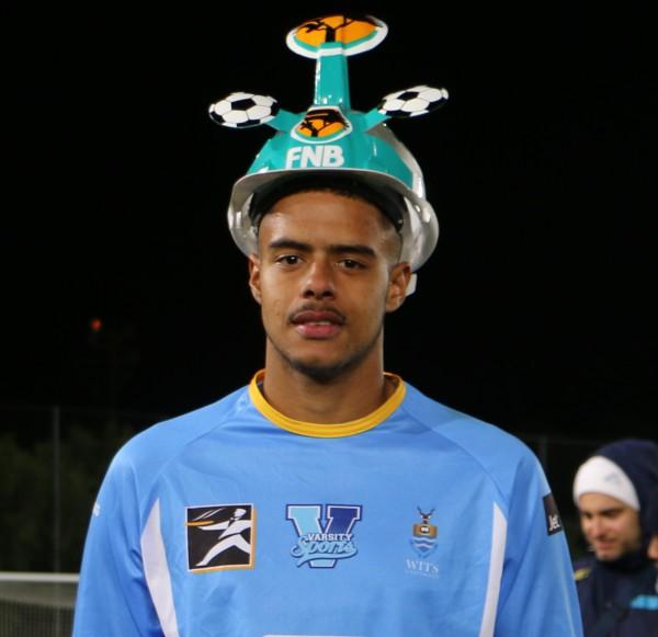RISING STAR: Man of the match, Brylon Lee Petersen, is promising professional goalkeeper.