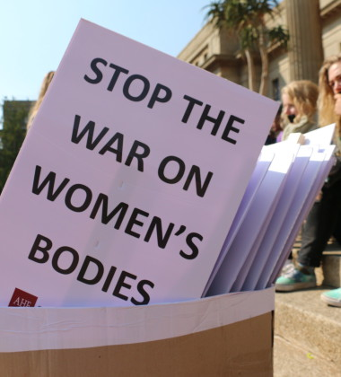 STOP:  The placards used by Silent Protesters to demonstrate against sexual violence. Photo: Mokgethwa Masemola