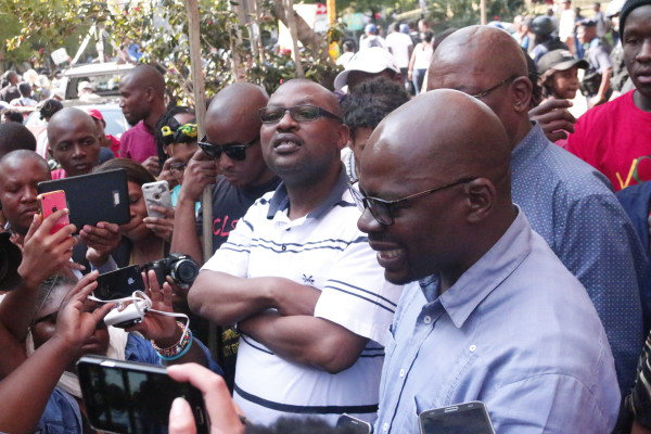 MEDIA: Solly Mapaila addresses media after signing memorandum. Photo: Nasya Smith