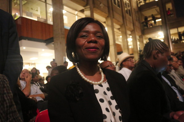 LEADERSHIP: Advocate Thuli Madonsela, former public protector, addressed students at the #WitsPeaceAccord meeting. Photo: Nasya Smith
