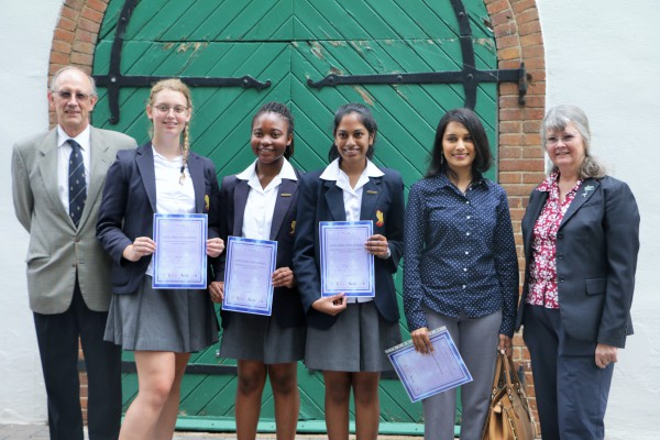 WINNERS: Learners from Hyde Park High School won the Materials Science Poster Competition 2016. Photo: Nokuthula Zwane