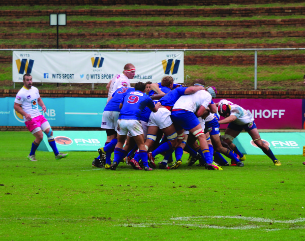 TOUGH BATTLE: The Wits rugby team fought till the end.