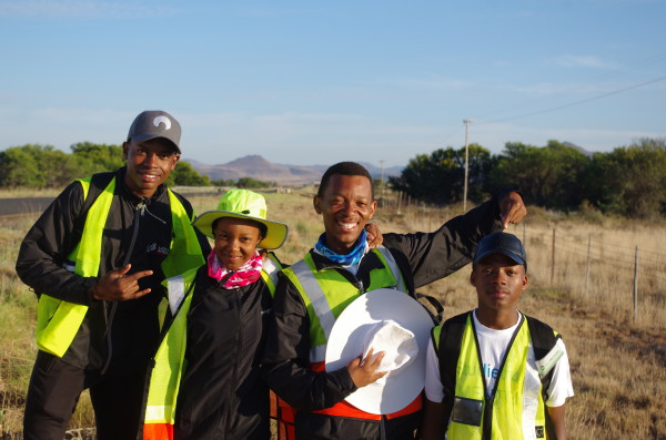 Students walk from Wits to NMMU to raise funds for university students. Photo: Provided