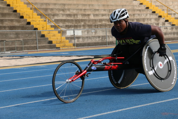 AGAINST ALL ODDS: Deejay Manaleng, a South African para-cyclist, is training for her upcoming track championships. Photo: Nokuthula Zwane