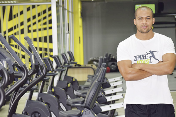 KEEPING FIT: Wits gym manager, Deen Rhoda is turning the gym into a trendy space for young people. Photo: Olwethu Boso