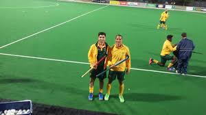 Rusten Abrahams (left) in his South African kit. Photo: provided