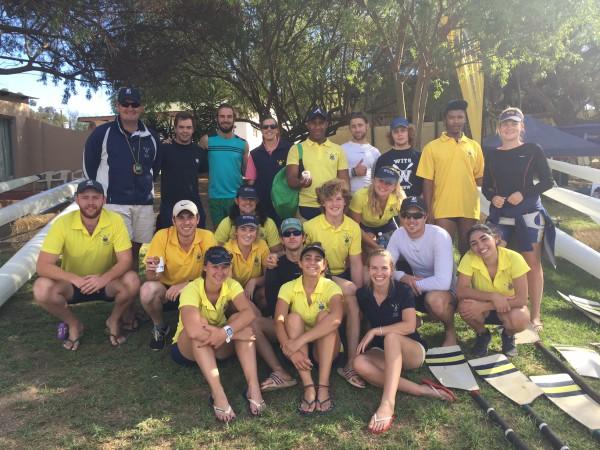 READY, SET, GO!: All smiles as the WUBC team prepare for the regatta. Photo: Provided