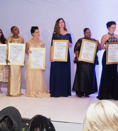 Shakira Choonara (second from left) and the night's other winners.