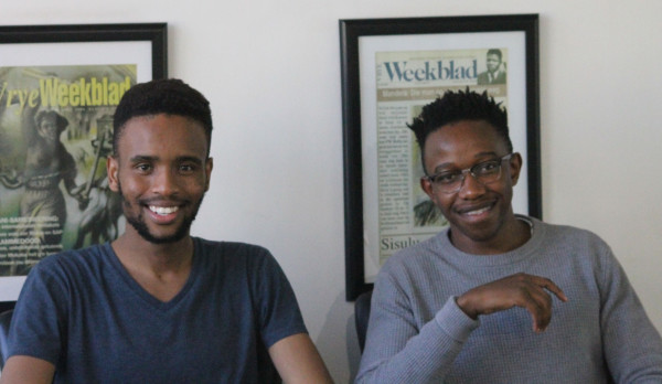 PLUG IN: Founders of CampusPlug.RIGHT: Bongani Masilela. LEFT: Boitumelo Mpakanyane