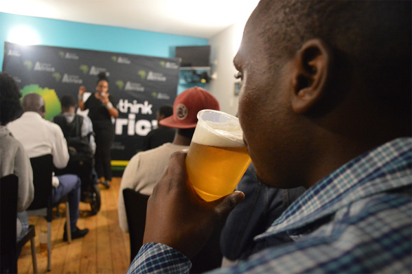 Wits students engage in beer debates hosted by ReThink Africa. Photograohy by Karen Mwendera