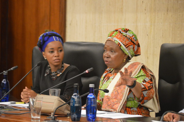 Dr Dlamini-Zuma addresses Witsies at the annual Human Rights dialogue which was held at the Senate room.								  Photo: Karen Mwendera