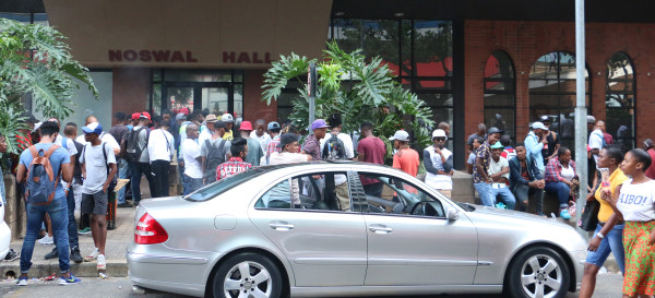 Noswal Hall residence invaded: A group of People assemble outside Noswal Hall residence everyday, causing a distraction.