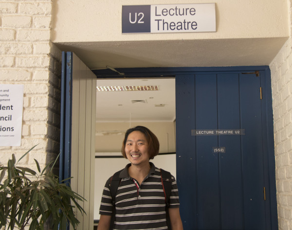 South Korean student, Sehwa Yoo experiences the Wits Edge Photo: Nomvelo Chalumbira