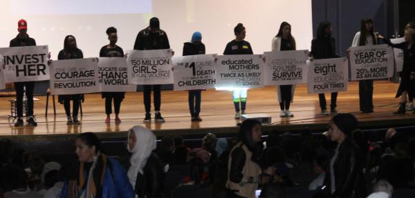Girl Rising ambassadors before the screening Photo: Juwairiyyah Jeena