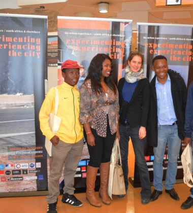 Members from the Eat My Dust cinema project, which uses the art of cinema in townships. Photo by Karen Mwendera.