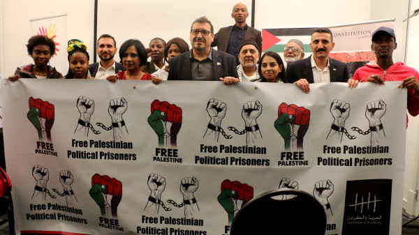 Wits students went on a 24-hour fast in solidarity with Palestinian political prisoners.   Photo: Chulumanco Mahamba
