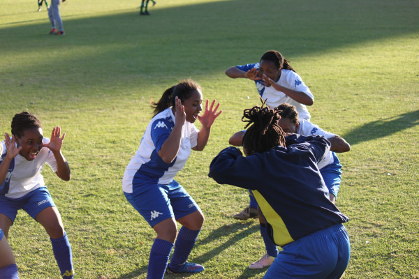 Wits Ladies celebrate their 3-1 win over Midrand Ladies FC