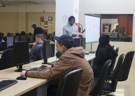 A STUDENT'S BEST FRIEND: Access to computers and the internet have become a student's basic need