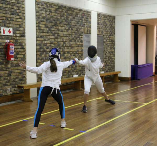 EN GARDE: The Wits Fencing Club practicing hard for the Western Cape Open tournament this weekend in Cape Town.Photo: Chulumanco Mahamba