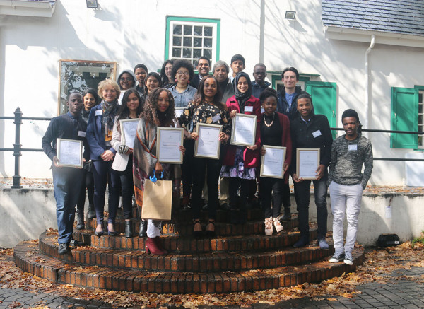 Academic excellence : recipients of the VC scholarship Photo by Nonkululeko Njilo