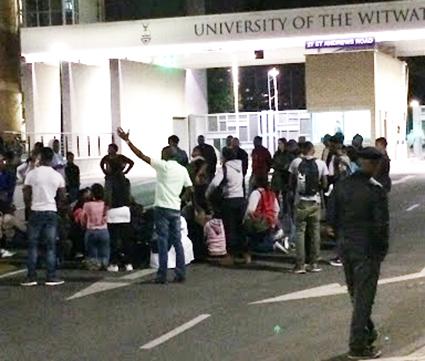Protesters blockade campus entrances over funding frustrations