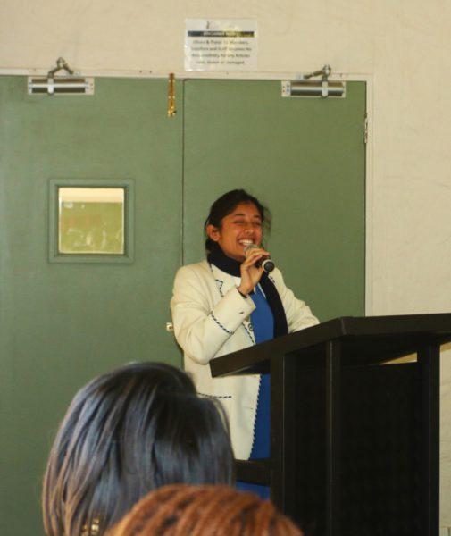 Parktown Head Girl Neha Prag recieved two rounds of applause after her speech.