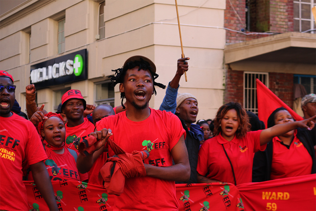 #NoConfidence: EFF shuts down Braamfontein