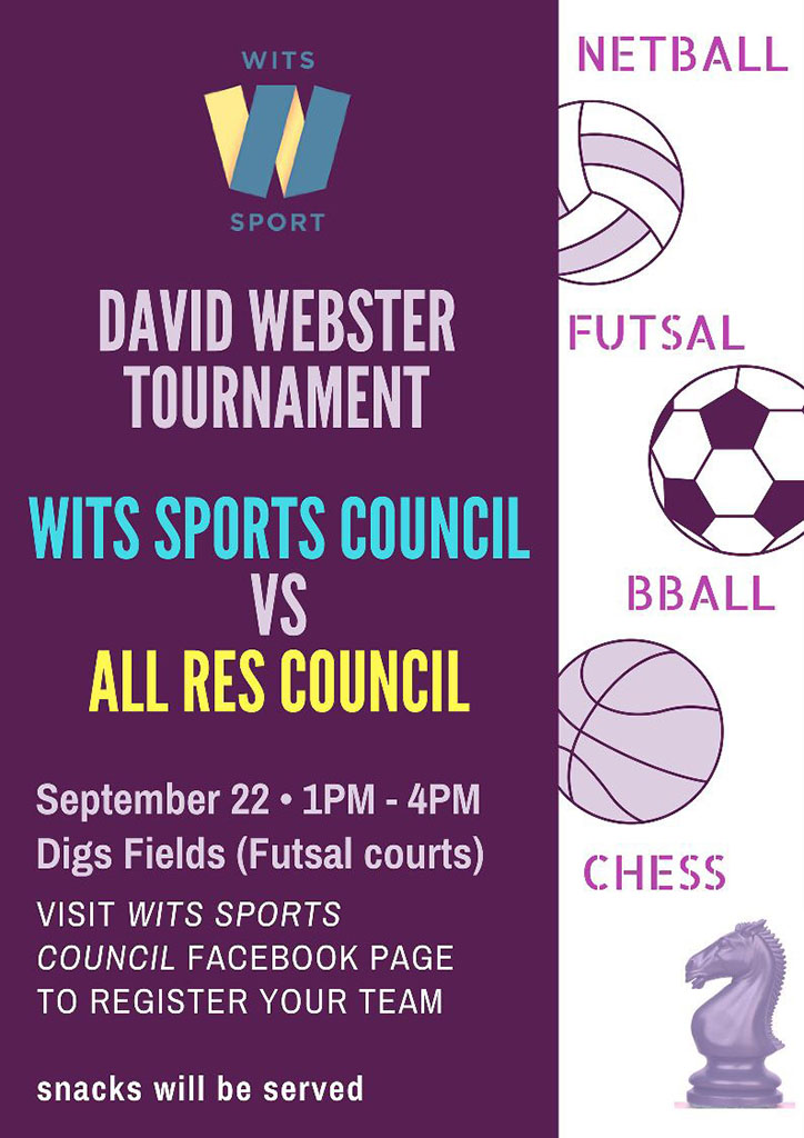 Wits Sports Council commemorates Dr David Webster with a sports derby