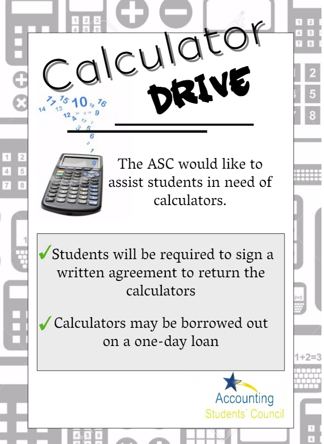 Calculator drive to help accounting students