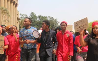 Students march for affordable accommodation
