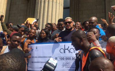AKA donates R100 000 to Wits SRC Humanitarian Fund