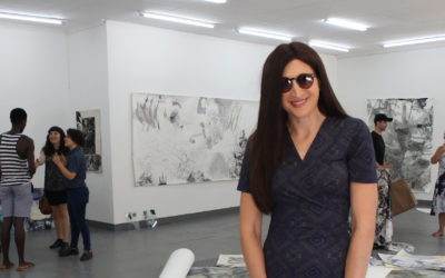 Student with visual impairment masters visuality through art